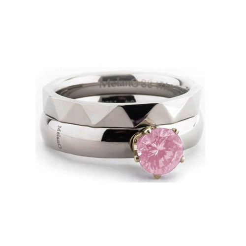 MELANO TWISTED MEDDY'S CROWN CZ 5048 RG MILK PINK